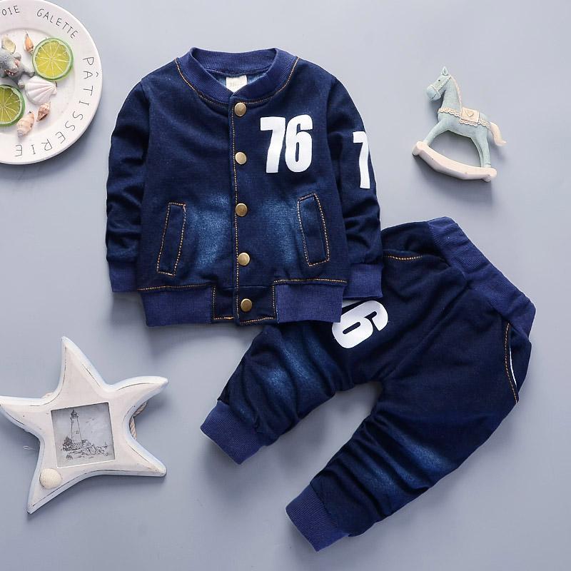 Cola meninos do bebê conjuntos de roupas 2018 primavera outono crianças meninos calças de brim roupas esporte terno criança meninos casuais roupas de treino