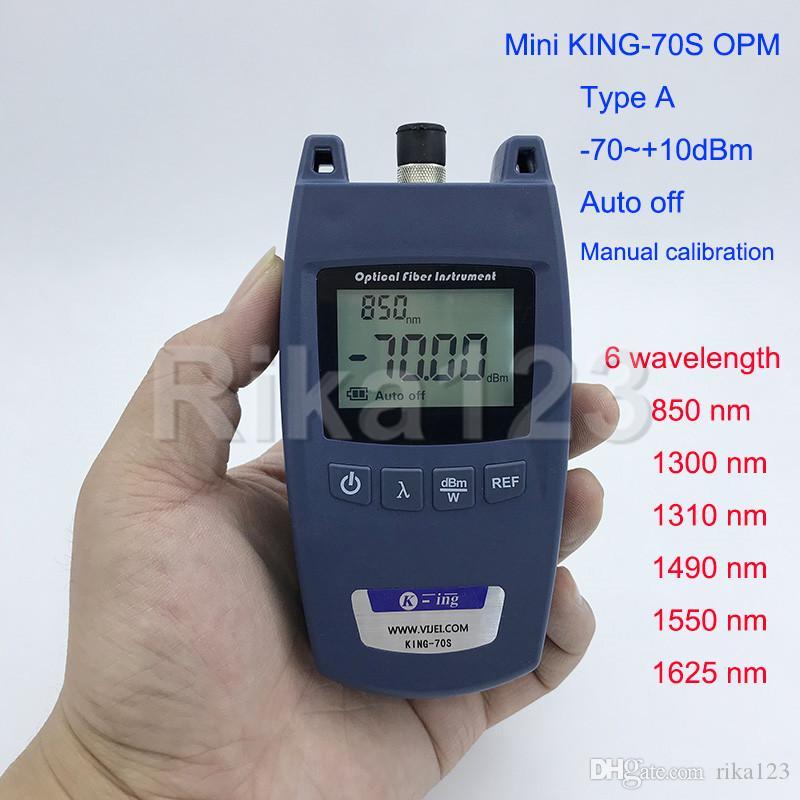 FTTH Mini KING-70S Typ A OPM Optisches Leistungsmesser Faseroptisches Kabel Tester -70dBm ~ + 10dBm