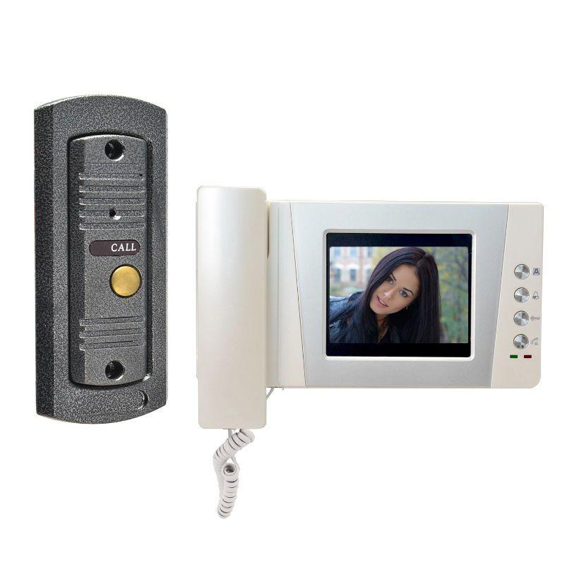 """4.3"""" Video Door Phone Doorbell Intercom system Visual intercom pinhole Camera"""