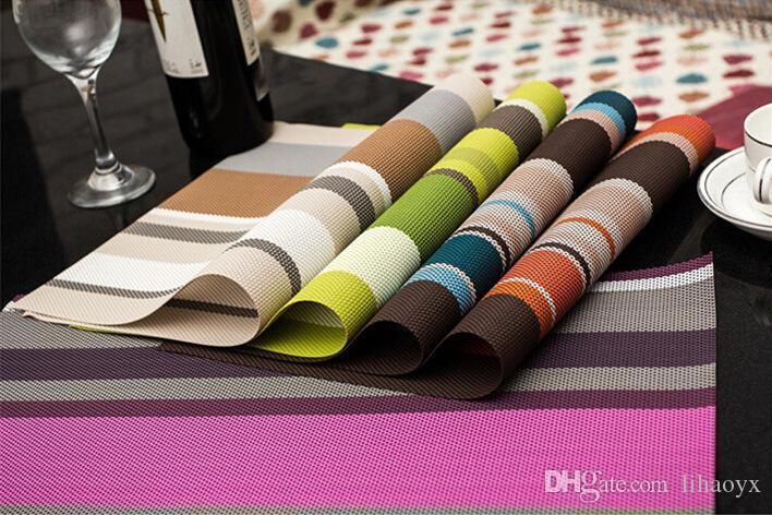 Isıya Dayanıklı PVC Mutfak Yemek Şerit Masa Placemats Masa Mat Manteles için Doilies Fincan Paspaslar Coaster Pad 45 * 30 cm C443