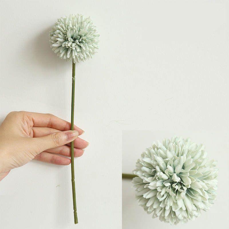 29 سنتيمتر 9 ألوان الحرير الاصطناعي الهندباء الكرة زهرة فرع الزفاف ديكور المنزل الزهور وهمية ترتيب الزهور
