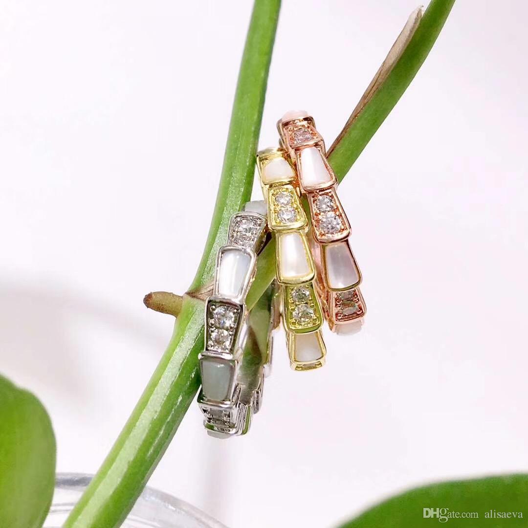Marca de moda anillo de la venda del punk de plata mujer de plata de oro rosa de acero inoxidable ámbar verde pico de los anillos joyería para las mujeres de los hombres