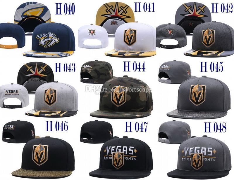 Hohe Qualität Vegas Golden Knights Hysteresenhüte 2018 New Ice Hockey Caps Nashville Predators Hysteresenmütze Team Hat