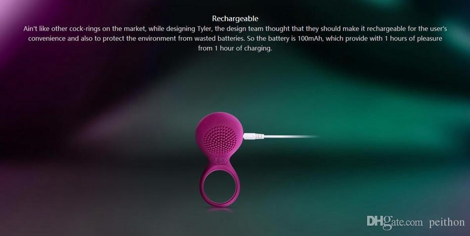 Vibrierender Hahn-Ring-wasserdichter USB-nachladbarer Penis-Ring-Zerhacker-Klitorisstimulation-erwachsene Geschlechts-Produkt-Liebesspielzeug für Paare