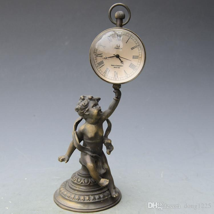 Antique Antiques Miscellaneous Little Angel Crystal Ball Western Watch Mechanical Watch European Retro Decoration Swing House Collection