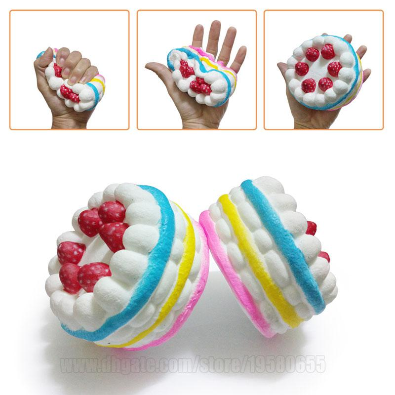Rainbow Squishy Cake Colorful Jumbo Squishies