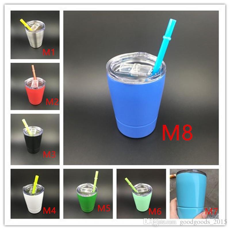 9oz wine glasses Stainless Steel cups Travel Vehicle Beer Mug non-Vacuum Insulated mugs for 9oz tumbler mini mug c435