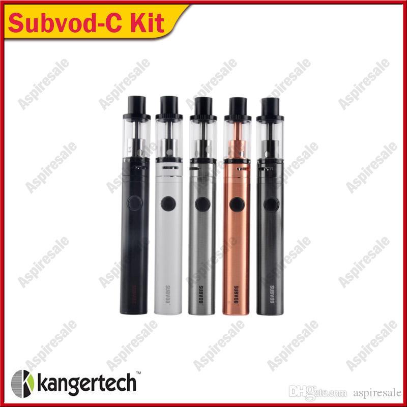 Autêntico Kanger SUBVOD-C Starter 1300 mAh kit Com 2.8 ml Subtanque Nano-C Tanque Fit genuíno KangerTech SSOCC SS 0.5ohm cabeça