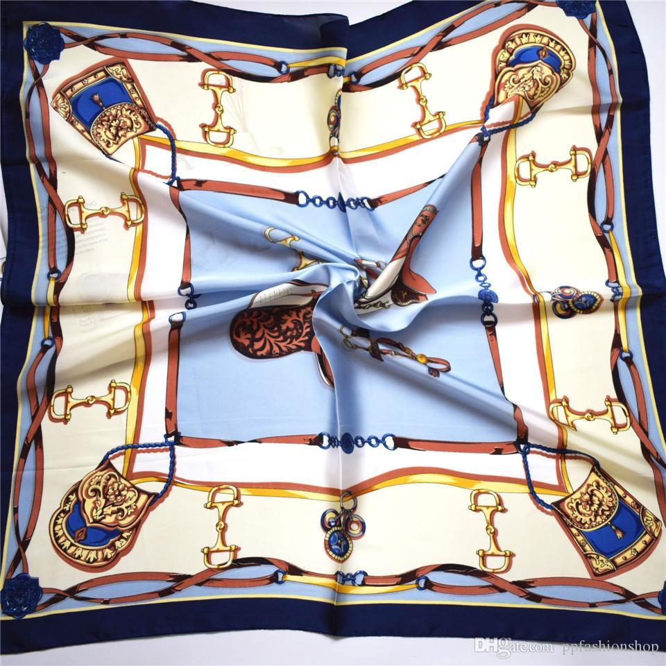 Симулятор шелкового малого квадрата дизайнерский шарф для женщин девушка простые моды шарфы студент тенденция ретро кравут дикие аксессуары