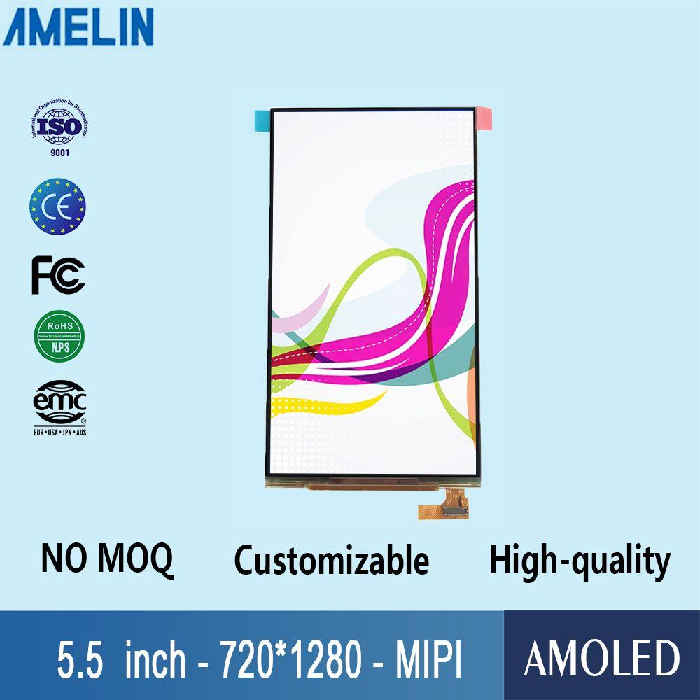 Schermo a modulo lcd OLED da 5,5 pollici con risoluzione 720 * 1280 con display dell'interfaccia MIPI e touch panel capacitivo AMOLED