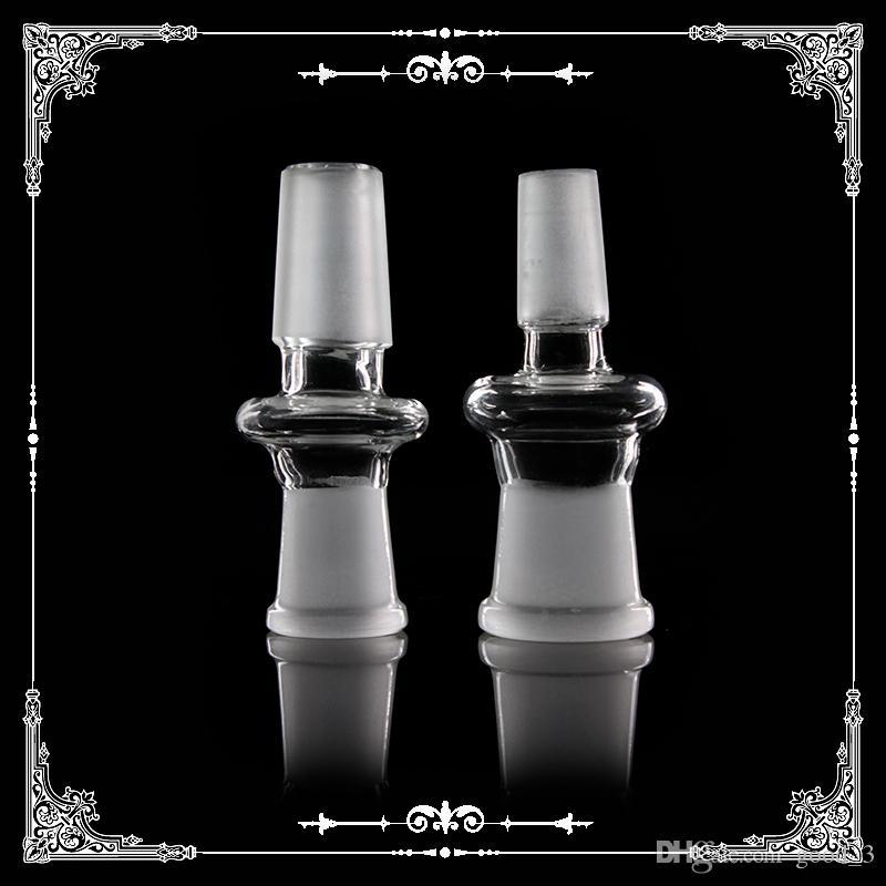 Adaptador de vidrio de 14 mm 18 mm 10 mm macho a hembra convertidor de vidrio para fumar bongs de vidrio accesorios de tuberías de agua libre del envío