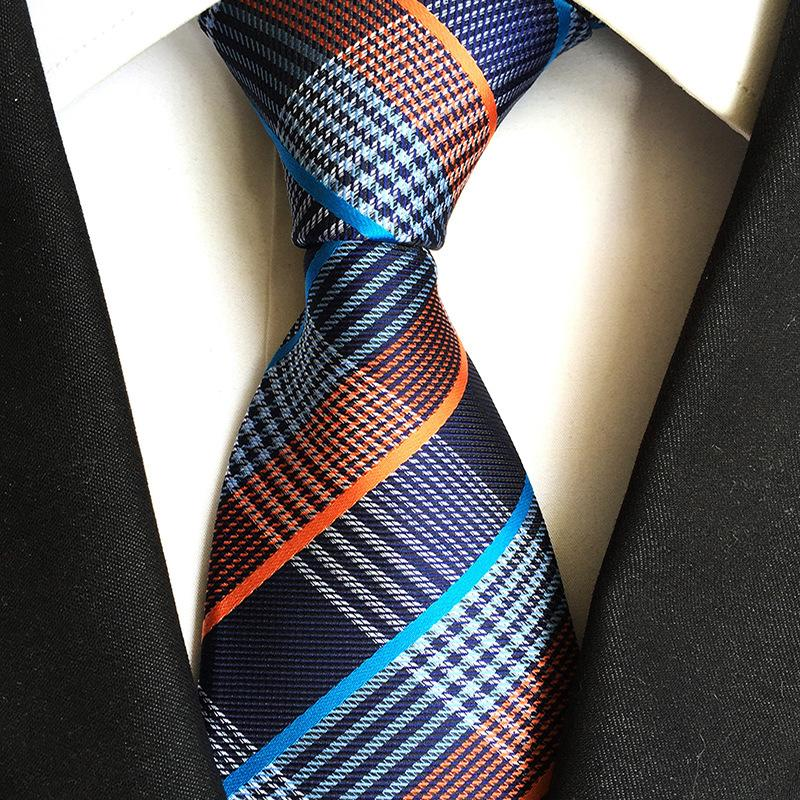 남성 브랜드 디자인 고급 비즈니스 결혼식 목 관계에 대한 8cm 폴리 에스테르 자카드 캐슈 꽃 페이즐리 넥타이을 Freeshipping