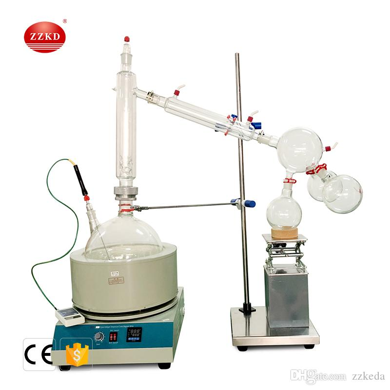 Fast Shipping ZZKD 20L Lab Supplies Suitable for Enrichment Crystallization Drying Separation Short essential oil distillation equipment