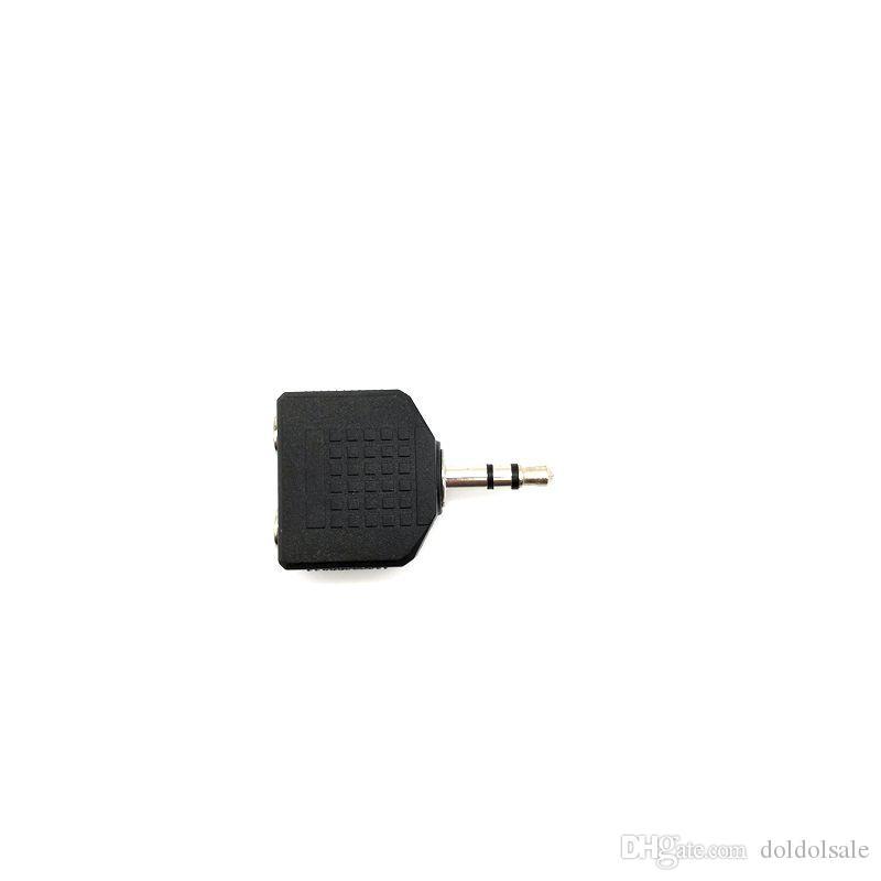 10pcs Convertitore da 3,5 mm Maschio a 3,5 mm 2 Femmina Adattatore 1 Maschio a 2 Femmina Connettore accoppiatore audio
