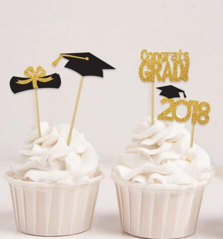 Großhandel Abschluss Der Abschlussfeier 2019 Cupcake Topper Taufe Taufparty Dekoration Donut Picks Glitzer Von Afantihourse 2173 Auf Dedhgatecom