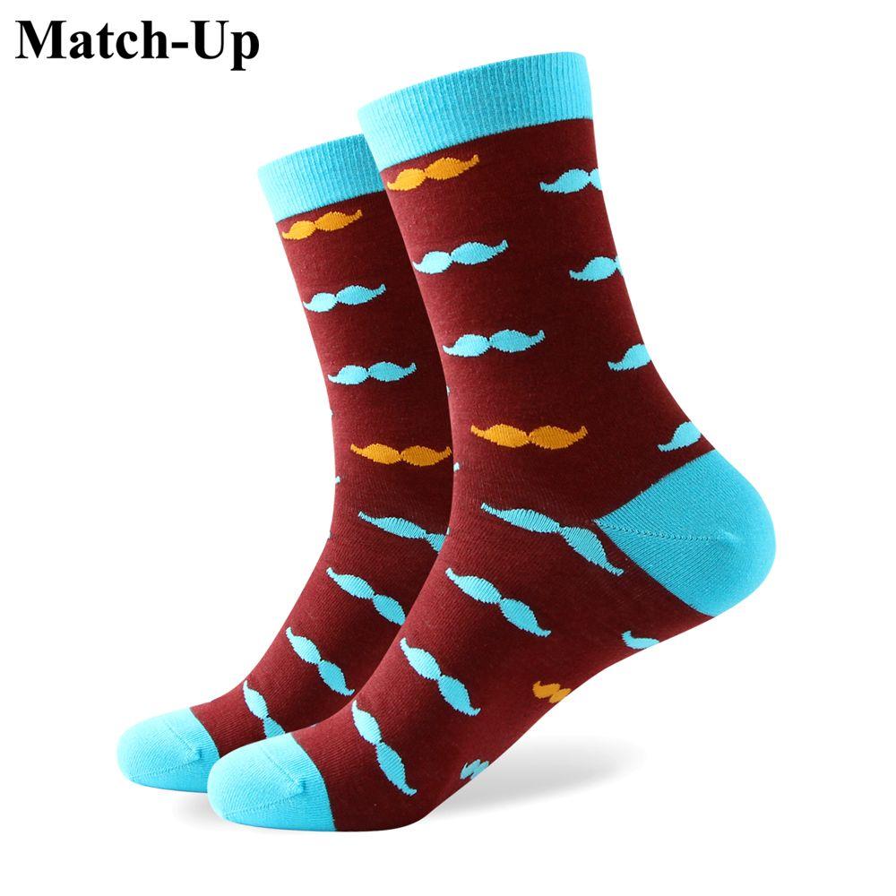 2016 novo estilo de todos os homens de algodão meias coloridas meias homem marca, meia dos homens, bigode meias, Frete Grátis 330