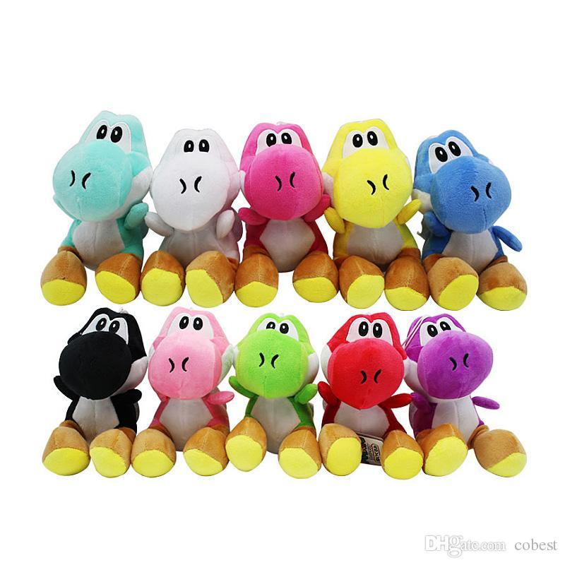 Super Mario Bros neue 7 Zoll Yoshi Plüschtiere yoshi Dinosaurier Plüschtiere Puppe Anhänger Figur Spielzeug 10 Farben Super Mario Bros Geschenk