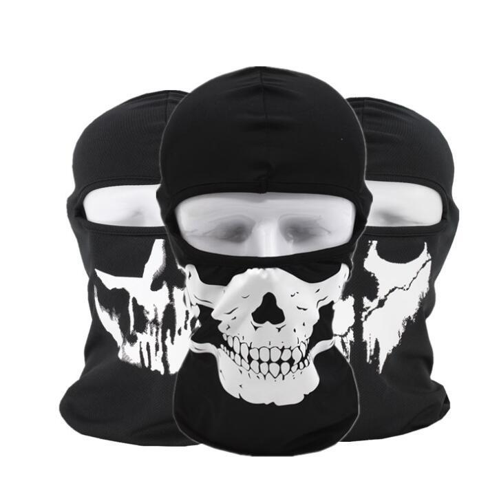 Hand Painted Skull Full Face Mask Windproof Balaclava For Cycling Motorcycle