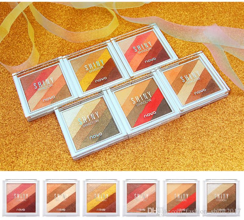 Novo Marque Palette De Fard À Paupières 5 couleurs Naturel Shimmer Étanche Mat Ombre À Paupières Beauté Cosmétiques Mode Maquillage Pour Les Yeux
