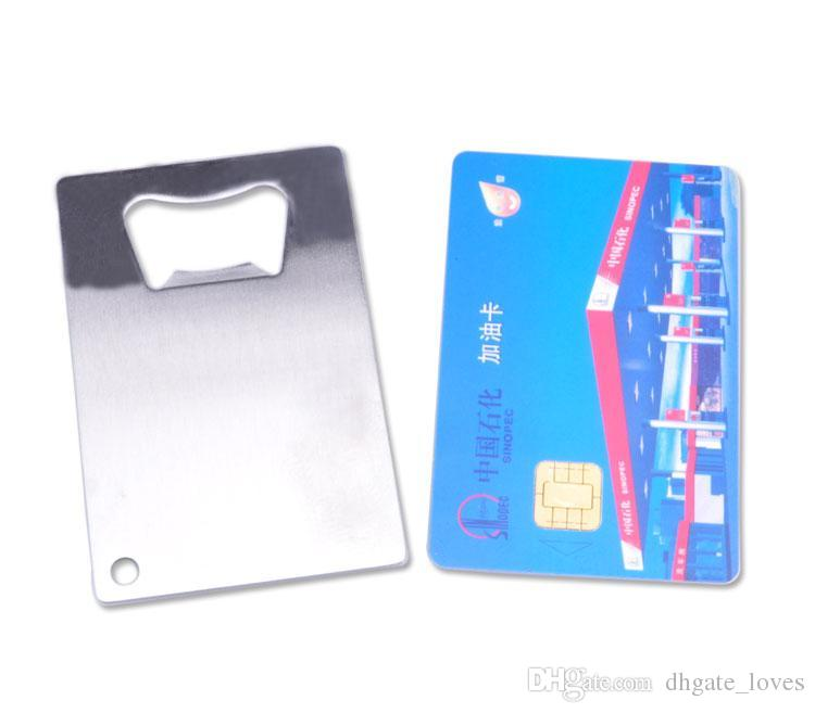 Personalized Credit Card Sized Bottle Opener Custom Company Logo Engraved / Printed Metal Business Card Bottle Opener GBN-001