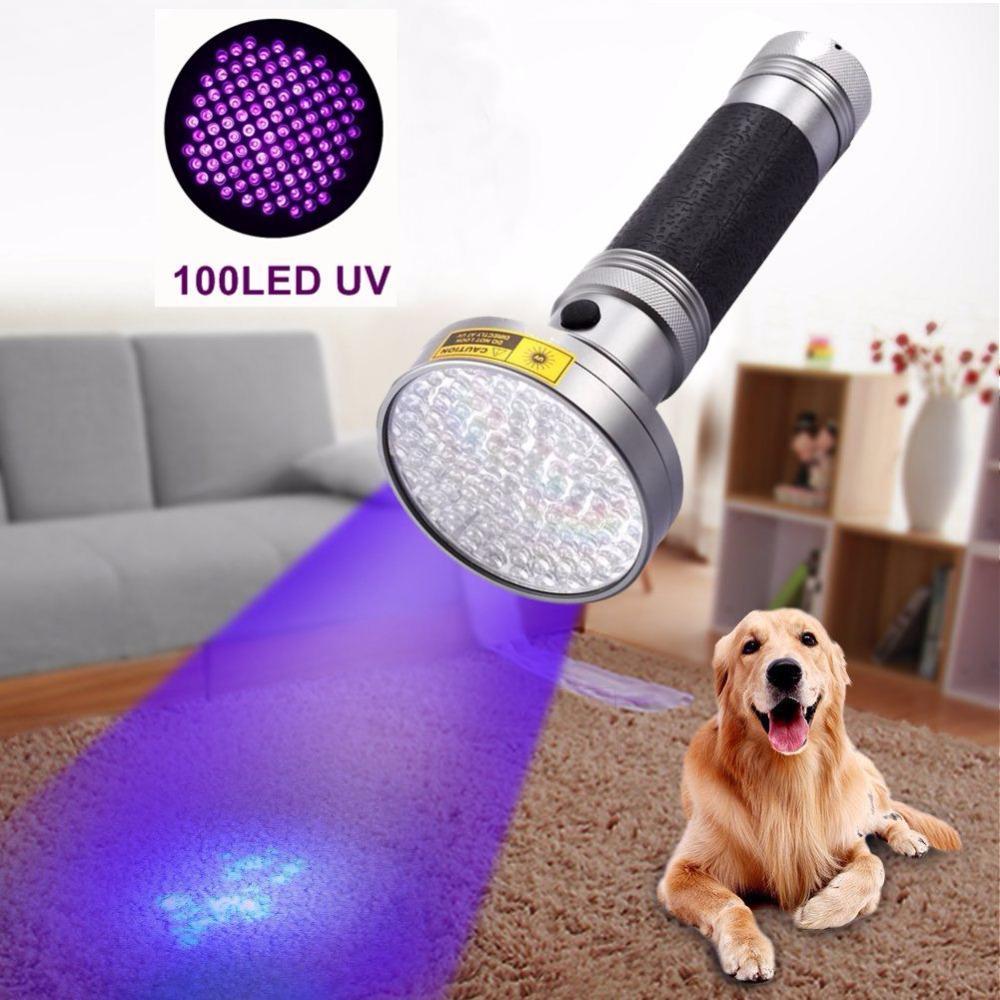 Accessoires tactique Alonefire Super 100 Led Uv lumière 395 -400nm Led Uv lampe torche 18W lampe extérieure Uv