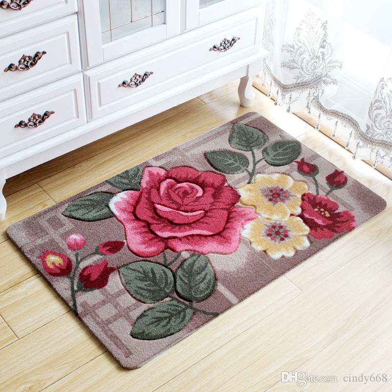 Big 3D Flower Carpet Kids Room,Kitchen Rugs Bathroom Carpet,Doormat,Tapete Para Quarto,Entrance Door Mats Outdoor,Cheap Bath Mat Bedroom Pad