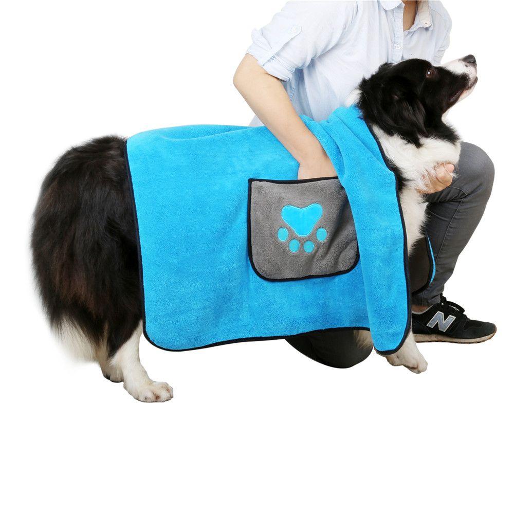 كلب البشكير سوبر ماص الحيوانات الأليفة تجفيف منشفة القط الكلب تنظيف الملحقات الحيوانات الأليفة تجفيف منشفة البشكير بطانية