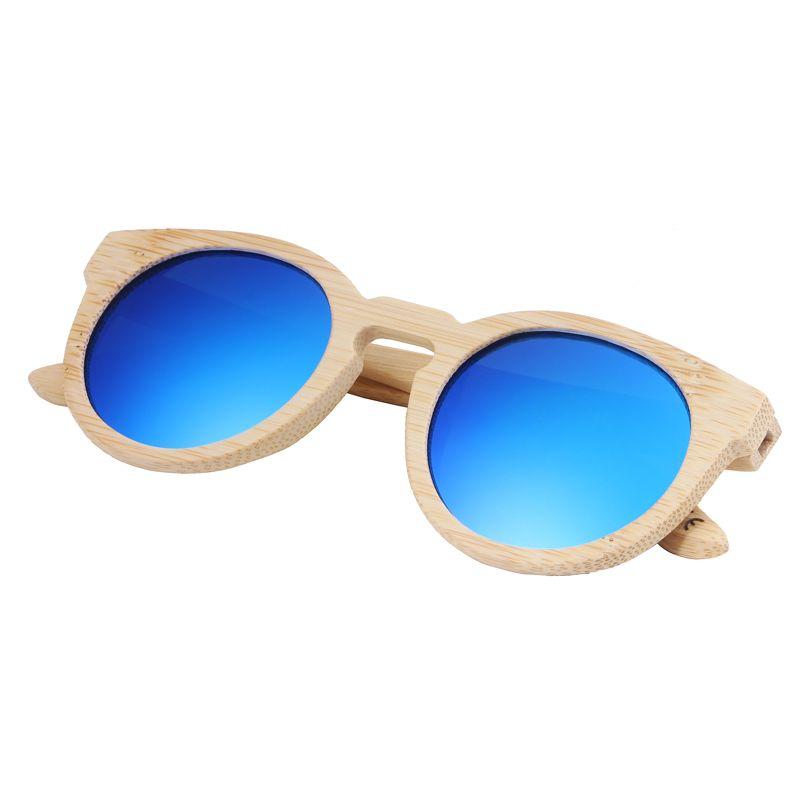 2018 Newest Fashion woman bamboo sunglasses polarized wooden sunglasses Free Shipping hot sale style birthday gift blue sunglasses