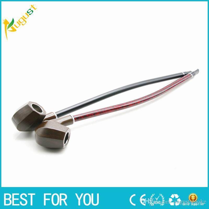 Fabbrica diretta legno tubo di resina marrone all'ingrosso nero tabacco rosso asta trombone canna lunga fumo