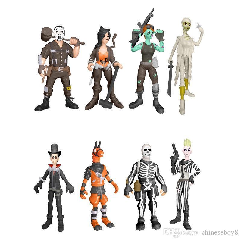 8 стиль Fortnite пластиковые куклы игрушки 2018 новые дети 10 см мультфильм игры fortnite лама скелет ролевая игрушка B