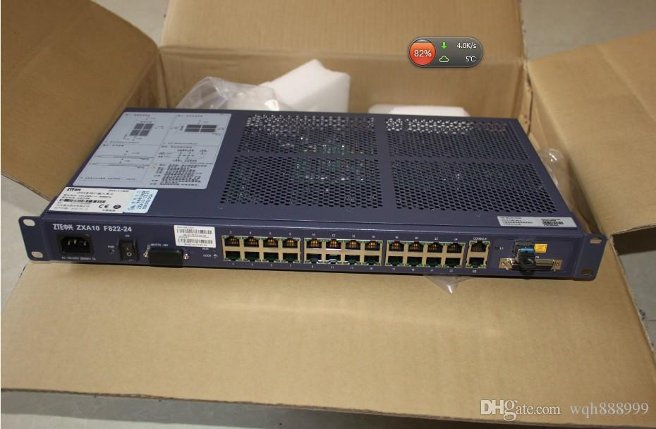 Interruptores originais de 100% para ZTE ZXCA10 F820 / F821 / F822 (24FE + 24POTS) EPON / GPON