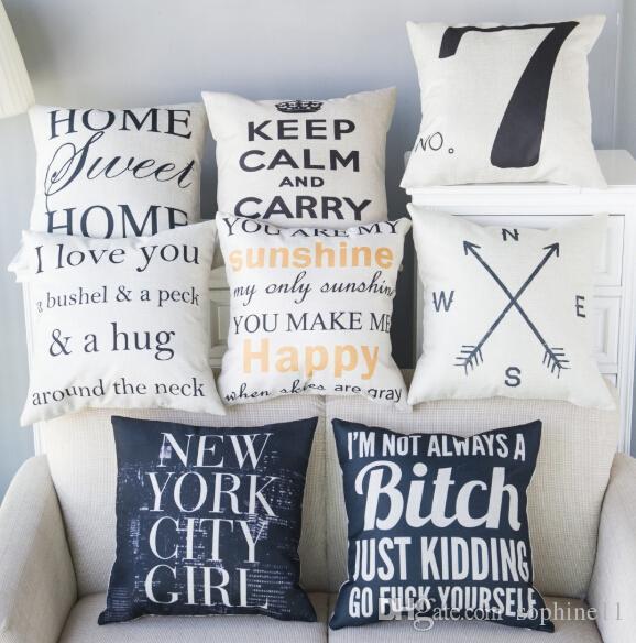 الكتان رسالة وسادة القضية غطاء وسادة أريكة سرير الشمال الزخرفية وسادة القضية الزفاف الديكور المخدة وسادة تغطي