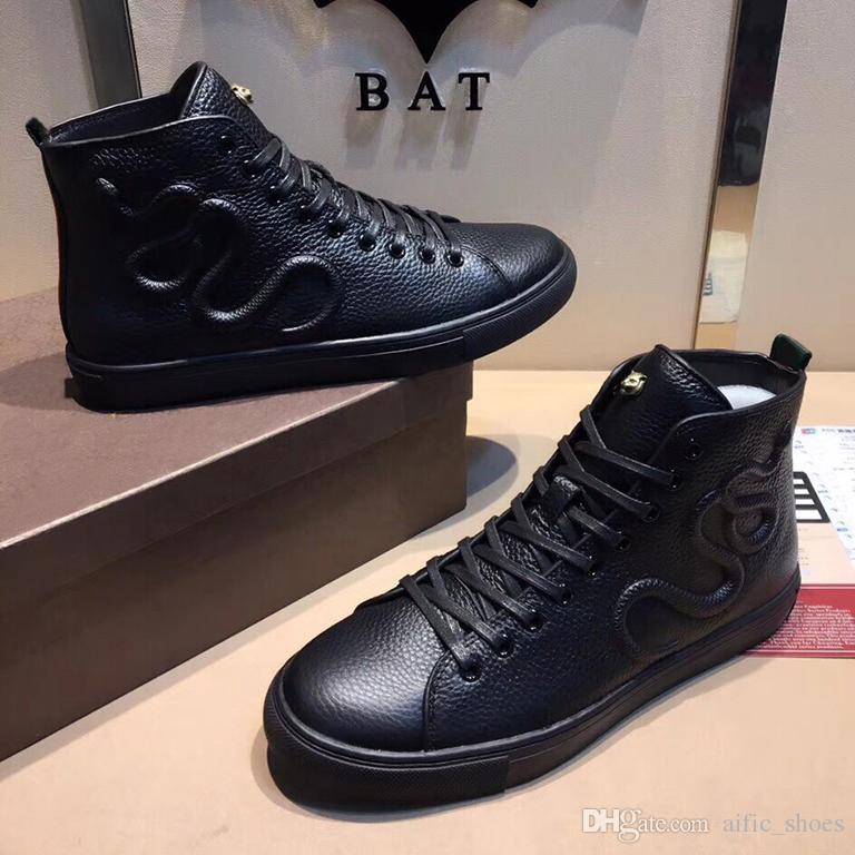 Yeni yarım bot Erkek Spor Erkek yüksek üst Sneakers için Box ile Casual Eğitmenler Kadınlar kaplan ejderha yılan kış botları Koşu Ayakkabıları