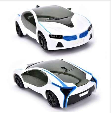 أضواء ملونة والصوت 3D Supercar Style- سيارة كهربائية لعبة تأثير مضحك جذابة الباعثة للضوء سيارة أطفال بنين بنات هدية