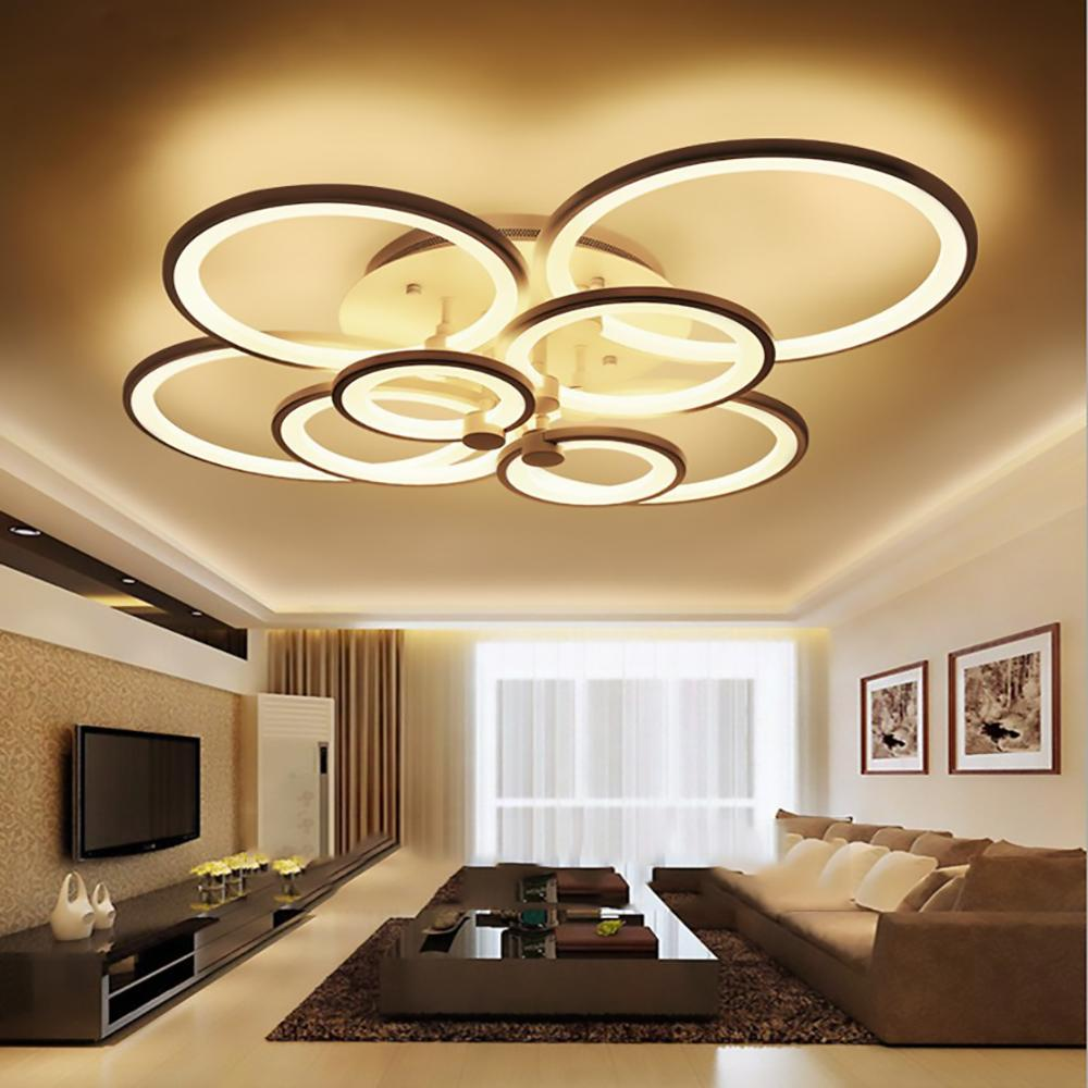 Surface mounted modern led ceiling lights for living room luminaria led bedroom fixtures indoor home dec ceiling lamp green pendant lights grey