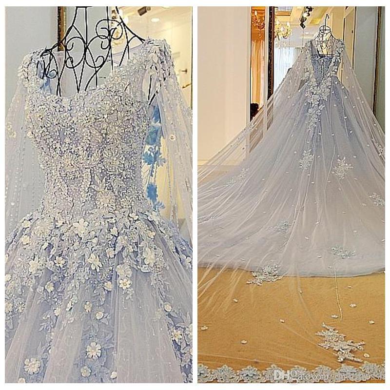 2019 Luxurious Lace A-Line Wedding Dresses Lace Appliques Beading With Wrap Fashion Bridal Gowns Lace Up Back Chapel Train Vestidos De Maire