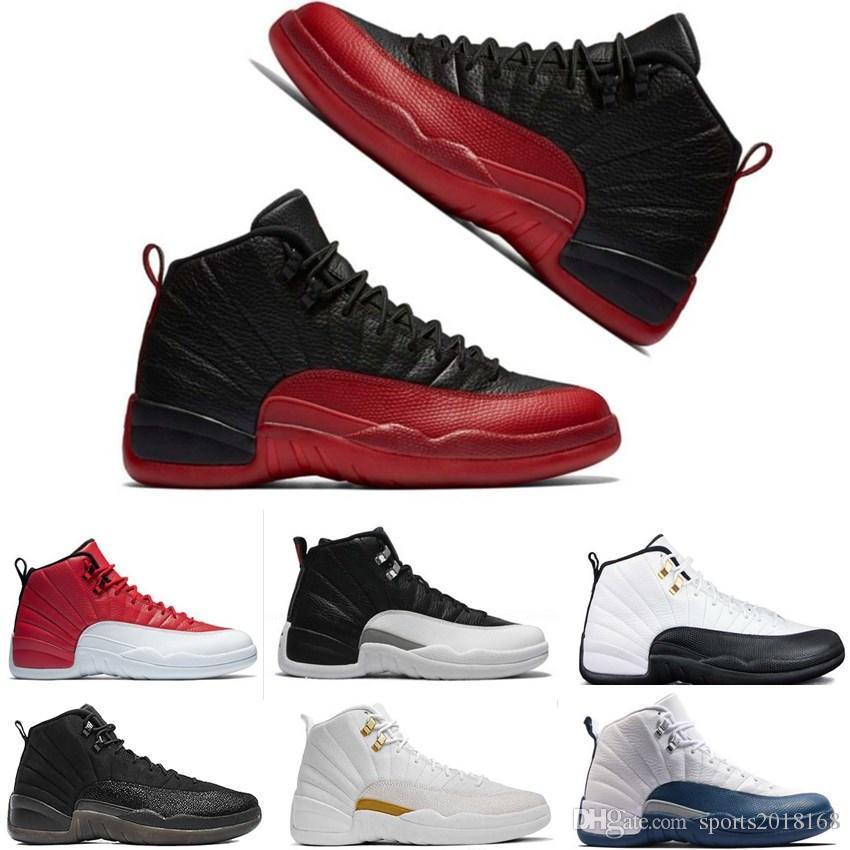 2018 Michigan Erkekler Basketbol Ayakkabı 12 Pembe Limonata Bordo Koyu gri Grip Oyunu 12 s Womens Eğitmenler Zapatos Spor Sneakers Boyutu 36-47