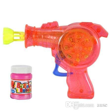 1 unids Pistola de Burbuja de Agua Animal de Dibujos Animados Encantador Encantador Para Niños Juguetes Al Aire Libre Niños Que Soplan Burbujas Juguete Pistola de Burbujas Manual soplador