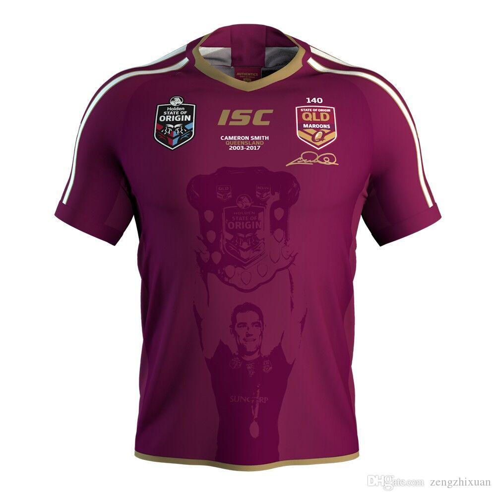 2018 MENS MAROONS INDIGENOUS JERSEY MENS BILLY SLATER JERSEY MENS CAMERON SMITH JERSEY QLD Maroons Rugby size S-M-L-XL-XXL-4XL-5XL