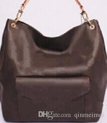 Flor marrom bolsa de ombro com alça de couro clássico mulheres reais pochette Metis M40781 totes de lona metis novas bolsas de senhora designer