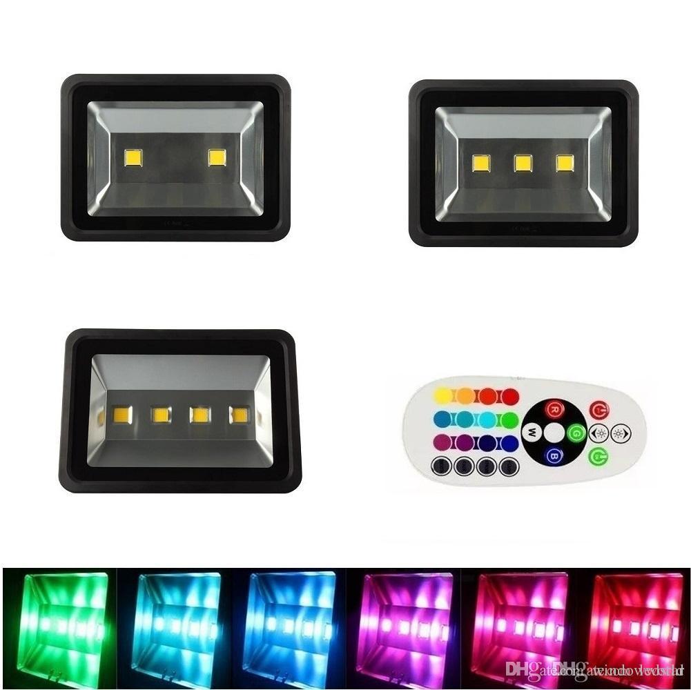 RGB 200 W 300 W 400 W Mutável LED Projector Ao Ar Livre À Prova D 'Água LEVOU Luz de Inundação Quente / Branco Frio AC 85-265 V
