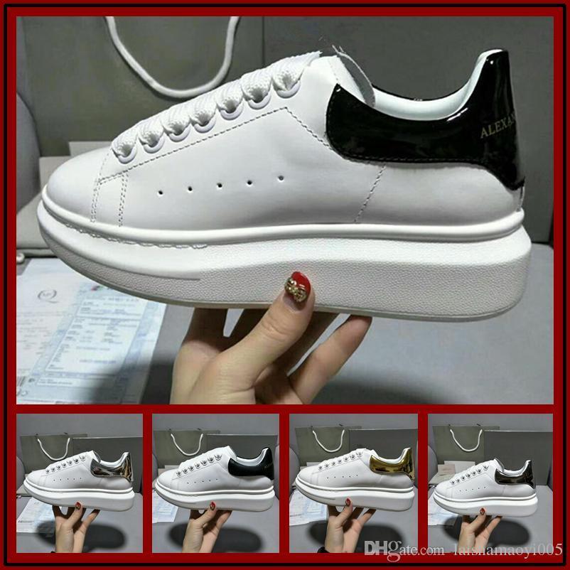 Zapatos de lujo baratos de los hombres de la moda Zapatos casuales Zapatos de entrenador de la marca de cuero genuino Cuero de vaca de alta calidad Estilo Tamaño 35-46