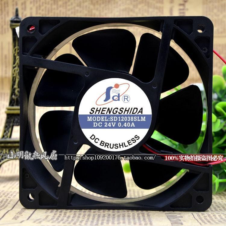 Para nova carta SHENGSHIDA SD12038SLM 24 V 0.40A 12 CM inversor ventilador da máquina de solda
