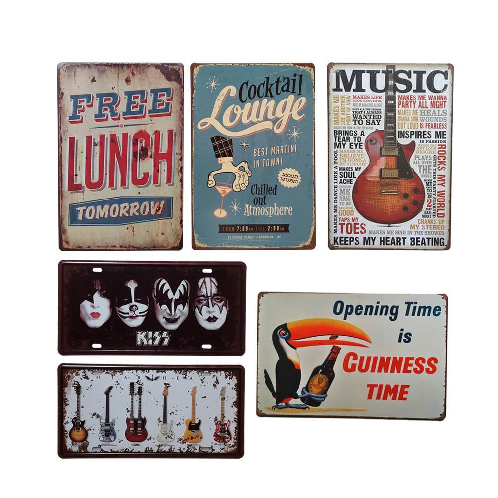 Metal Vintage Tin Sign Poster Vinho Música Decorativa Sinais Placa Estilo Retro Ferro Pintura Sinal Para Home Decor Clube Dropshipping Y18102409