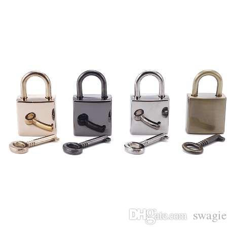 Osmond 3pcs Sac Accessoires Pièces Serrure avec clé Pour DIY Sac À Main En Métal Sac Décoration Locks Bronze Noir Argent Or Couleurs 1 PCS
