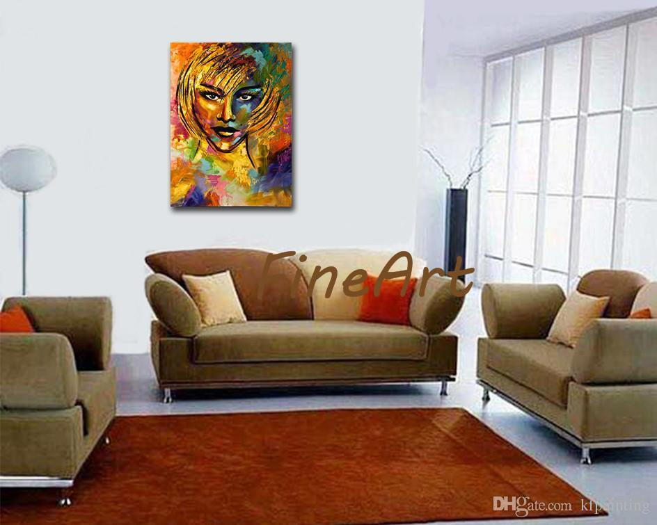handmade abstract palette knife heavy texture girl oil painting acrylic paintings on canvas art deco paintings sale bedroom living room