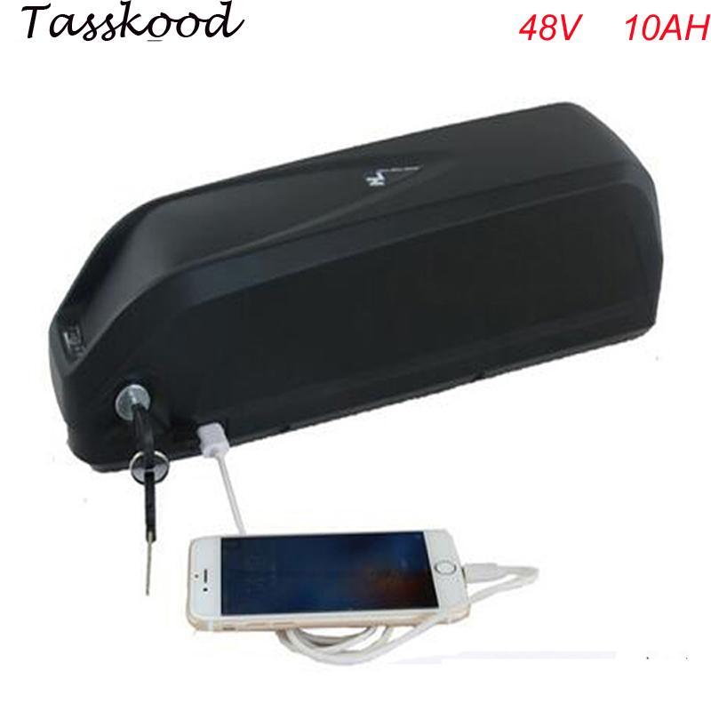 Hailong Ebike bateria litowa 48V 10AH z portem USB Elektryczny bateria rowerowa 48V 750W Bafang Li Ion bateria z ładowarką + BMS