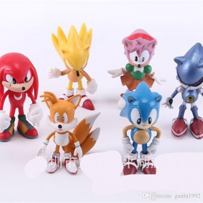 2020 The Hedgehog Figures Toy Children Pvc Garage Kit Sonic Shadow Tails Movie Characters Model Ornament Toy Hot Sale 20ph Ww From Ganlu1992 5 63 Dhgate Com