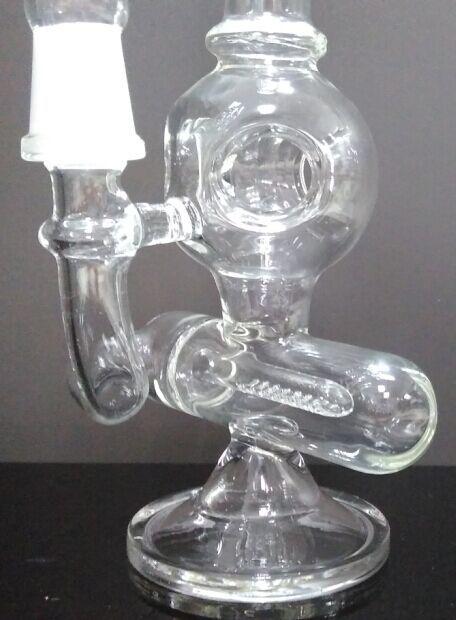 Neue 3 Loch Ball Recycler Glas Bong Colat Vogelkäfig perc 8,1 Zoll dickes Glas Wasser Pfeifen mit 14 mm Gelenk
