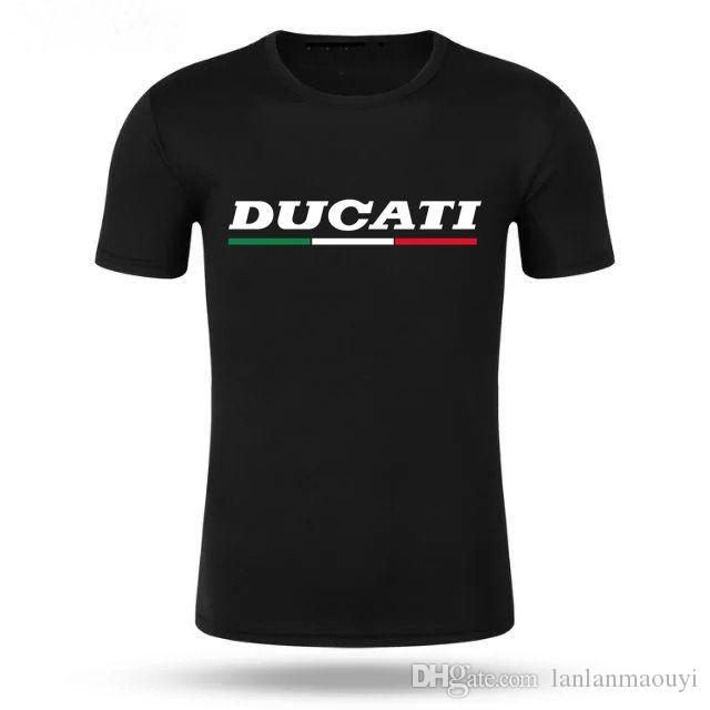 Homens Tshirt de Manga Curta Homens DUCATI Impresso 100% Algodão T-shirt Ducati Superbike Itália Corse Mck Verão Tees T-shirt dos homens T